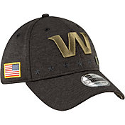 New Era Men's Salute to Service Washington Football Team 39Thirty Stretch Fit Black Hat