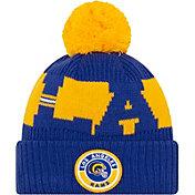 New Era Men's Los Angeles Rams Sideline Sport Pom Knit Hat