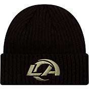 New Era Men's Salute to Service Los Angeles Rams Black Knit Hat