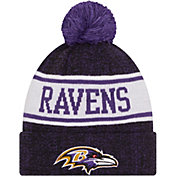 New Era Youth Baltimore Ravens Black Banner Knit Pom Beanie