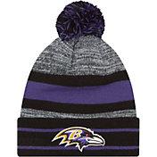 New Era Men's Baltimore Ravens Marled Cuffed Knit Beanie