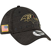 New Era Men's Salute to Service Baltimore Ravens 39Thirty Stretch Fit Black Hat
