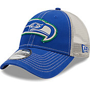 New Era Men's Seattle Seahawks Navy 9Forty Rugged Adjustable Hat