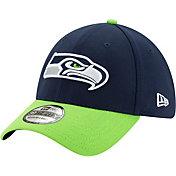 New Era Men's Seattle Seahawks 39Thirty Navy Stretch Fit Hat