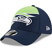 New Era Men's Seattle Seahawks Navy 39Thirty Bolt Fitted Hat