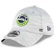 New Era Men's Seattle Seahawks Sideline Road 39Thirty Stretch Fit Hat