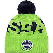 New Era Men's Seattle Seahawks Sideline Sport Green Knit Hat