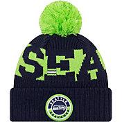 New Era Men's Seattle Seahawks Sideline Sport Blue Knit Hat