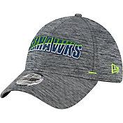 New Era Men's Seattle Seahawks Grey Summer Sideline 39Thirty Stretch Fit Hat