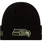 New Era Men's Salute to Service Seattle Seahawks Black Knit