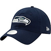 New Era Women's Seattle Seahawks Navy Glisten 9Twenty Adjustable Hat