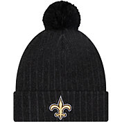 New Era Men's New Orleans Saints Black Breeze Knit Pom Beanie