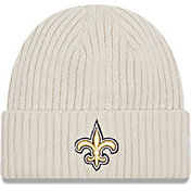 New Era Men's New Orleans Saints Core Cuffed Knit White Beanie