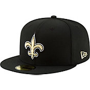 New Era Men's New Orleans Saints Black 59Fifty Logo Fitted Hat