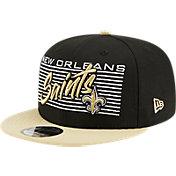 New Era Men's New Orleans Saints  9Fifty Adjustable Black Hat