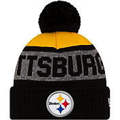 New Era Men's Pittsburgh Steelers Pom Knit Hat