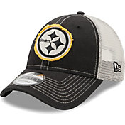 New Era Men's Pittsburgh Steelers Black 9Forty Rugged Adjustable Hat