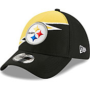 New Era Men's Pittsburgh Steelers Black 39Thirty Bolt Fitted Hat