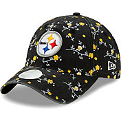 New Era Women's Pittsburgh Steelers Black Blossom Adjustable Hat