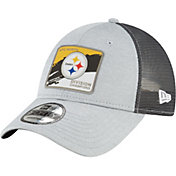 New Era Men's Pittsburgh Steelers AFC North Division Champions 9Forty Grey Adjustable Hat