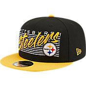 New Era Men's Pittsburgh Steelers  9Fifty Adjustable Black Hat