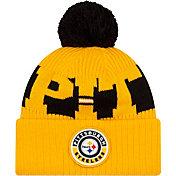 New Era Men's Pittsburgh Steelers Sideline Sport Gold Knit Hat