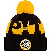 New Era Men's Pittsburgh Steelers Sideline Sport Black Knit Hat