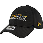 New Era Men's Pittsburgh Steelers Black Summer Sideline 39Thirty Stretch Fit Hat