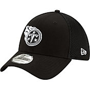 New Era Men's Tennessee Titans Black 9Forty Trucker Adjustable Hat
