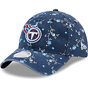 New Era Women's Tennessee Titans Navy Blossom Adjustable Hat