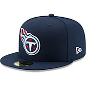 New Era Men's Tennessee Titans Navy 59Fifity Logo Fitted Hat