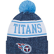 New Era Youth Tennessee Titans Navy Banner Knit Pom Beanie