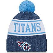 New Era Men's Tennessee Titans Navy Banner Knit Pom Beanie