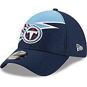 New Era Men's Tennessee Titans Navy 39Thirty Bolt Fitted Hat