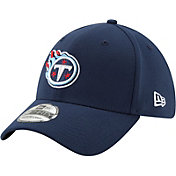 New Era Men's Tennessee Titans Navy 39Thirty Classic Fitted Hat
