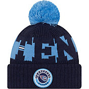 New Era Men's Tennessee Titans Sideline Sport Blue Knit Hat