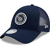 New Era Women's Tennessee Titans Navy Sparkle Adjustable Trucker Hat
