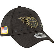 New Era Men's Salute to Service Tennessee Titans 39Thirty Stretch Fit Black Hat