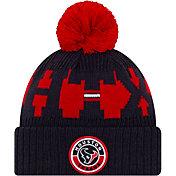 New Era Men's Houston Texans Sideline Sport Navy Knit Hat