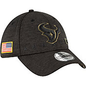 New Era Men's Salute to Service Houston Texans 39Thirty Stretch Fit Black Hat