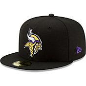 New Era Men's Minnesota Vikings Black 59Fifity Logo Fitted Hat