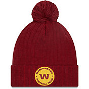 New Era Men's Washington Football Team Dark Red Breeze Knit Pom Beanie