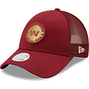 New Era Women's Washington Football Team Dark Red Sparkle Adjustable Trucker Hat