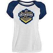 New Era Women's El Paso Locomotive FC Raglan White T-Shirt