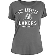 New Era Women's Los Angeles Lakers Grey Logo T-Shirt