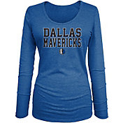 New Era Women's Dallas Mavericks Blue Wordmark Long Sleeve T-Shirt