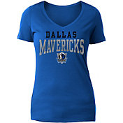 New Era Women's Dallas Mavericks Blue Wordmark T-Shirt