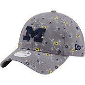 New Era Women's Michigan Wolverines Grey Blossom Adjustable Hat