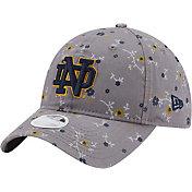 New Era Women's Notre Dame Fighting Irish Grey Blossom Adjustable Hat