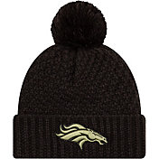 New Era Women's Salute to Service Denver Broncos Black Pom Knit